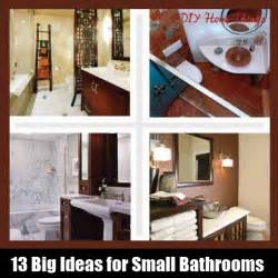 big ideas for small bathrooms 13 big ideas for small bathrooms diy home things