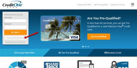 credit one credit one bank banking login cc bank