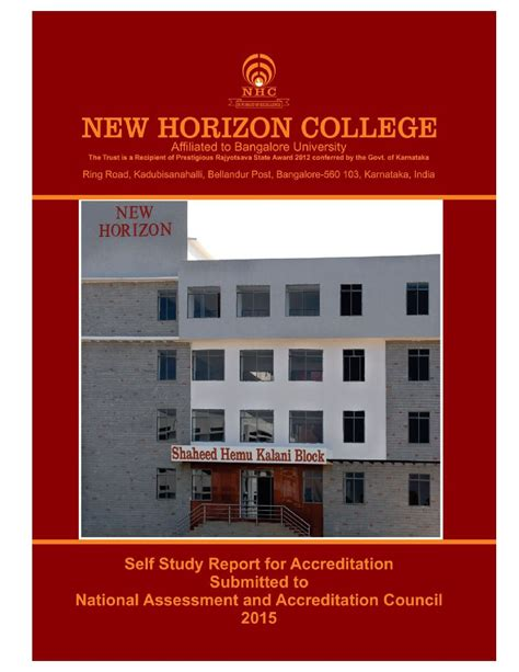 New Horizon College Bangalore Mba by New Horizon College Marathalli Nhcm Bangalore