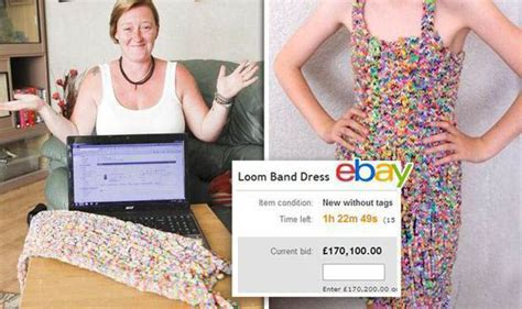 loom band dress video 16 first child to make a adult top bidder for 163 170k loom band dress pulls out of sale