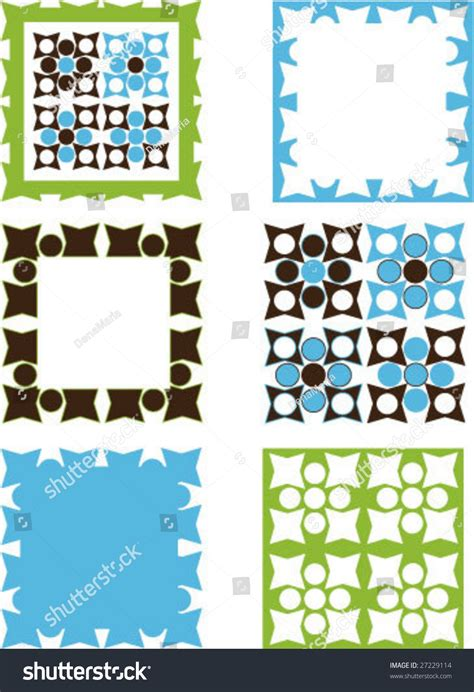 design elements square square patterned design elements and borders stock vector