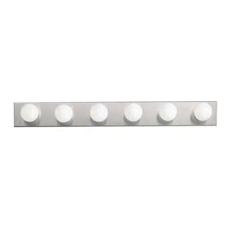 6 bulb bathroom light fixture kichler 626ni brushed nickel bath vanity 36 quot wide 6 bulb
