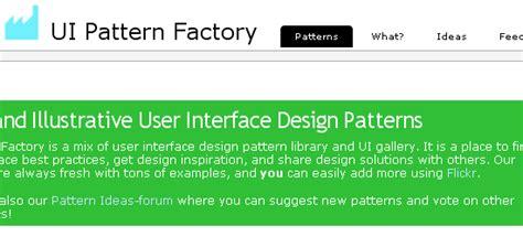 factory pattern web service 推荐20个关于网站可用性及界面设计的网站 analyzer 博客园