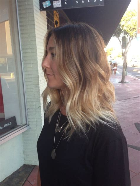 ombre balayage color melt blonde highlights long bob perfect balayage blonde ombre color melt lob long bob