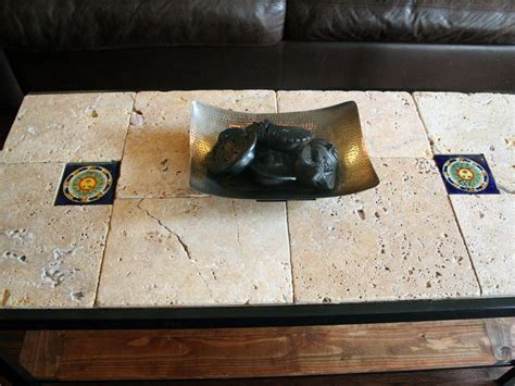 Diy Tile Coffee Table Rustic Tile Coffee Table Hgtv