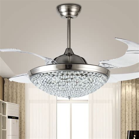 42 inch fan lights living room bedroom ceiling fans light popular ceiling fan crystal chandelier buy cheap ceiling