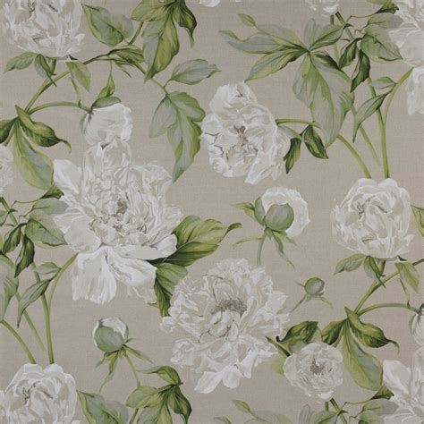 cabbage rose upholstery fabric manuel canovas shabby cabbage rose blossoms linen toile fabric