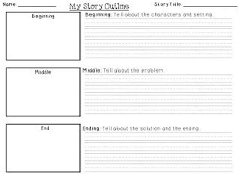 story writing template writing outline grade and writing on