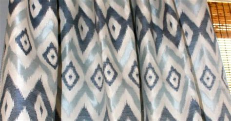 Navy Ikat Curtains Navy Blue Light Blue And Ivory Ikat Curtain By Stitchandbrush Home Pinterest Light Blue