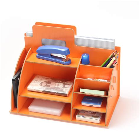 Diy Modern Wooden Storage Box Desk Organizer For Cosmetics Desk Shelf Organizer