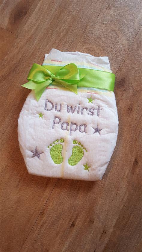Dawanda Bestickte Windel by Weiteres Bestickte Windel Quot Du Wirst Papa Quot Ein