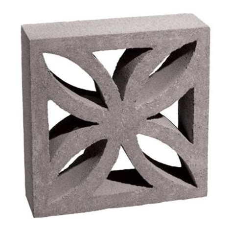 decorative cinder blocks home depot 12 in x 12 in x 4 in gray concrete block 100002873