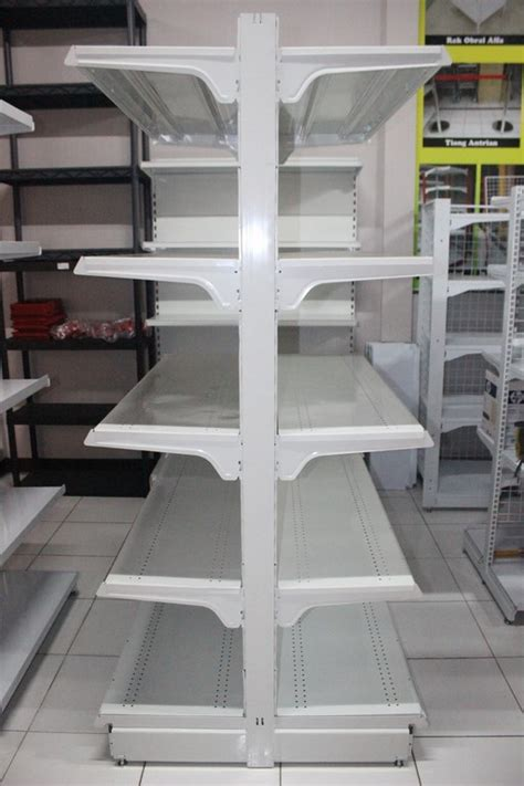 Rak Gondola Single jual rak supermarket berkualitas tinggi