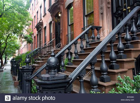 buy house in new york city town houses in charles street in greenwich village new york city stock photo royalty