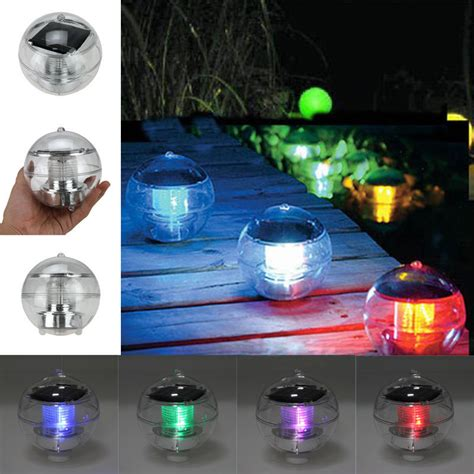 Outdoor Solar Led Floating Lights Garden Pond Pool L Solar Floating Lights