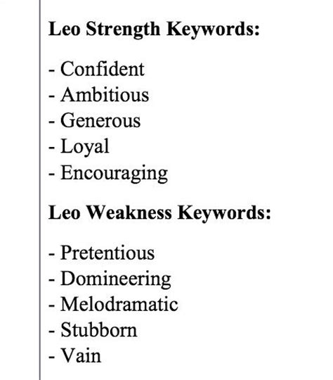leo strengths and weaknesses quote addicts