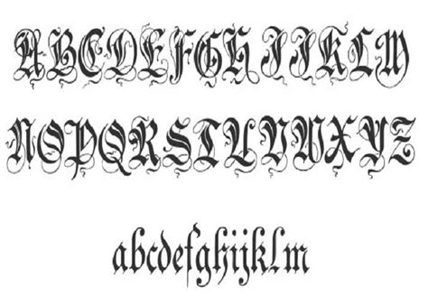 bold tattoo alphabet bold cursive tattoo fonts tattooic