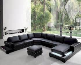 Black Sectional Leather Sofa Modern Soft Black Leather Sectional Sofa Set 44l0693 Black Leather Sectional Sofa In Sofa Style