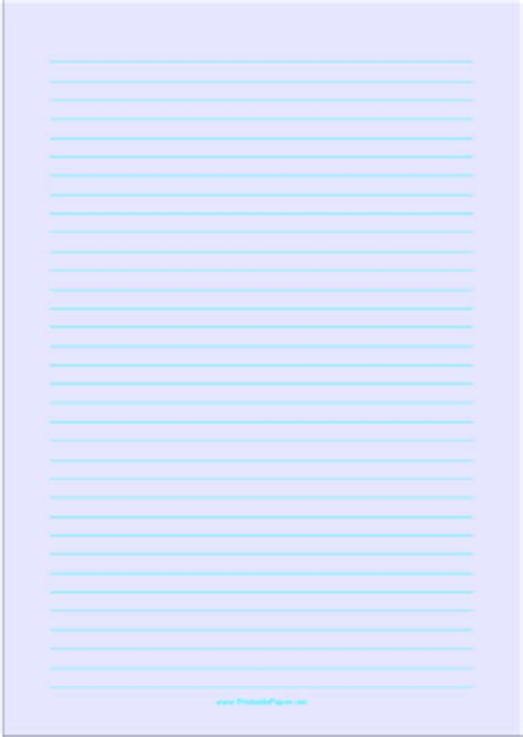 printable lined paper blue printable lined paper light blue medium cyan lines a4