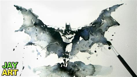 batman arkham knight watercolor painting jay art youtube