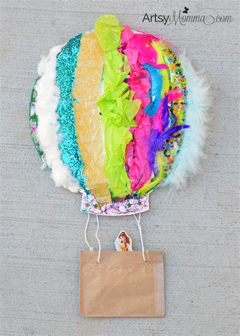 textured air balloon sensory craft artsy momma