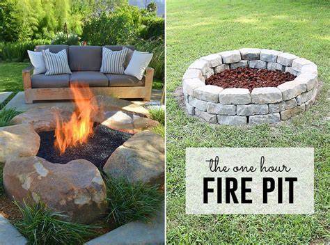 how to build a pit easy diy inexpensive firepit for
