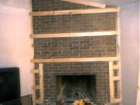 dwnixon covering a brick fireplace