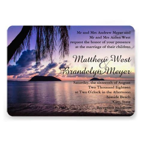 purple sunset wedding invitation 5 quot x 7 quot invitation card zazzle