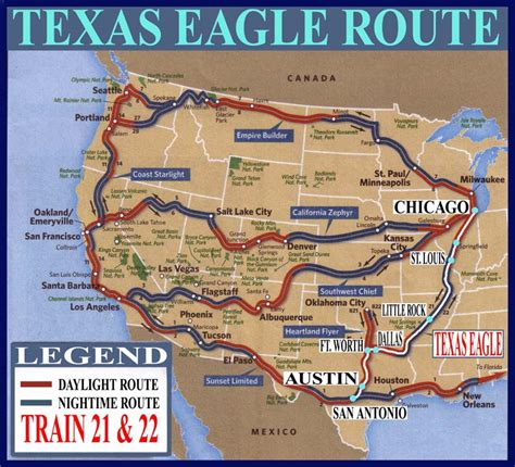 texas eagle map national route guide and railway information directory atdlines business car services