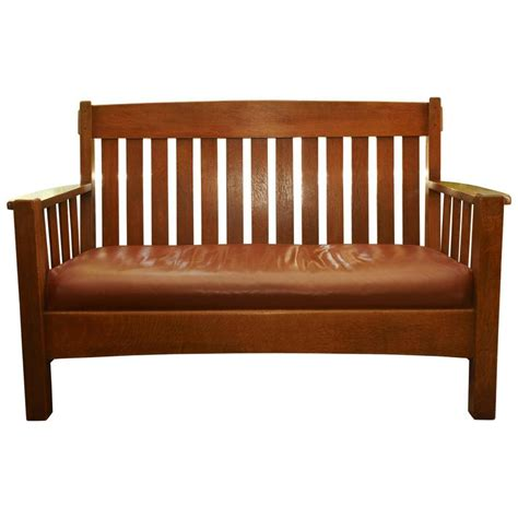 mission settee mission settee harden furniture co circa 1907 for sale