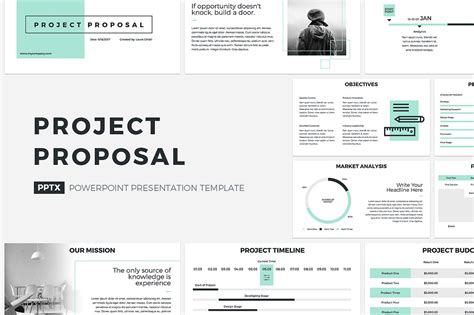 Project Proposal Powerpoint Template Powerpoint Templates Creative Market Presentation Templates For Powerpoint