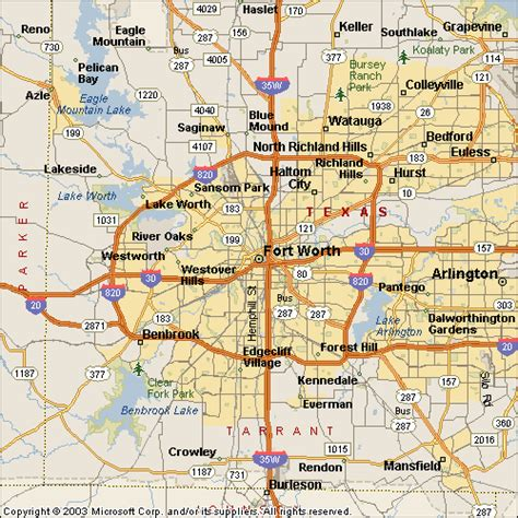 map of fort worth texas ft worth water heater service area