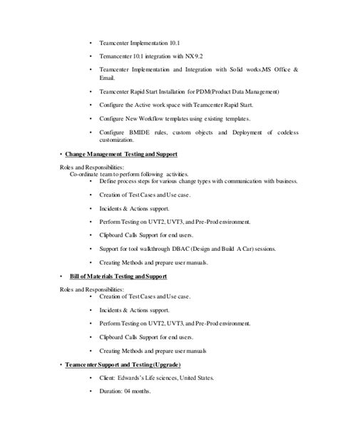 teamcenter resume resume ideas