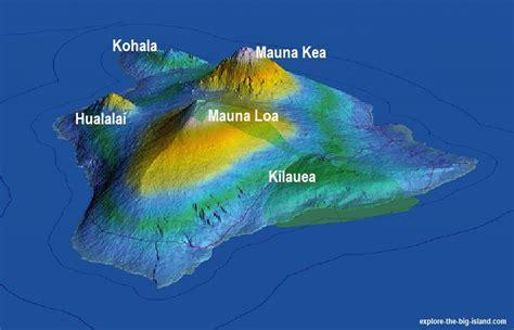 volcanoes in hawaii map hawaii volcanoes of the big island