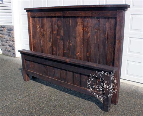 farmhouse bed frame king farmhouse bed frame 2owls1nest
