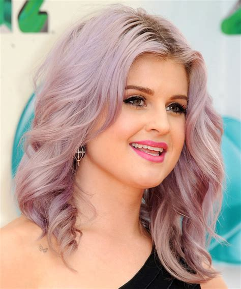 how to get osbournes haircolor kelly osbourne medium straight casual hairstyle pink