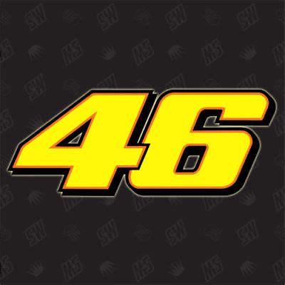 Motogp Startnummern Aufkleber by Rossi Autogramm Moto Gp 46 Sticker Unterschrift