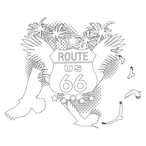 Route 66 Coloring Pages Route 66 Coloring Page by Route 66 Coloring Pages