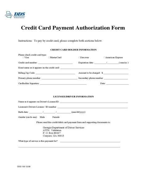 Sle Credit Card Payment Form sle credit card authorization form canada 28 images