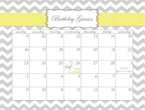 countdown calendar printable template birthday countdown calendar printable printable