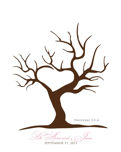 wedding tree guest book free template free printable tree template 8 png 1280 215 1600