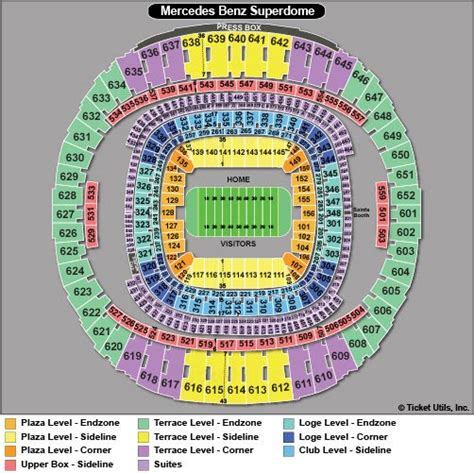 superdome diagram new orleans bowl tickets 2018 prices buy at