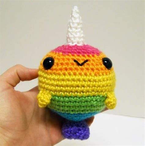 knitted narwhal crocheted knitted rainbow narwhal crochet ideas