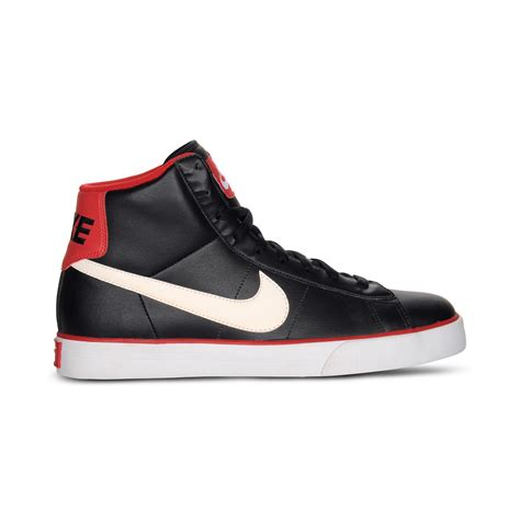 nike high top sneakers mens lyst nike sweet classic leather high top sneakers in