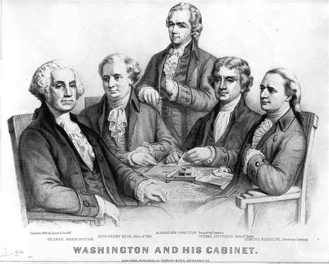 Washington S Cabinet by Federal Congress Creation Of The Executive