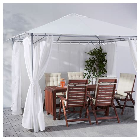 gazebo curtains karls 214 gazebo with curtains white 300x300 cm ikea