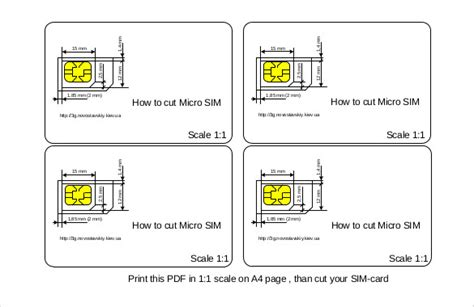 Micro To Nano Sim Card Template by Micro Sim Template 10 Free Word Pdf Documents