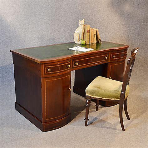 study table desk antique desk edwardian leather pedestal