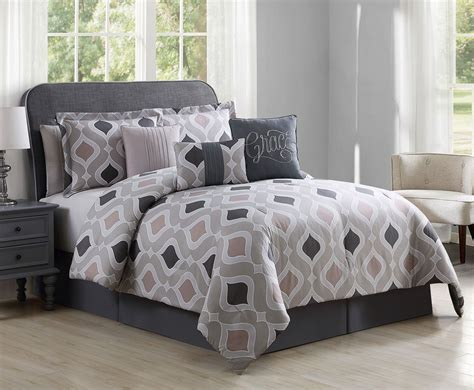 taupe bedding 7 piece grace home taupe gray comforter set