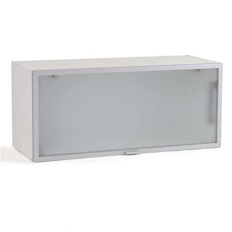meuble de cuisine en verre meuble de cuisine haut court porte relevante en verre 80cm